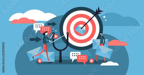 Murais de parede Direct marketing modern vector illustration concept