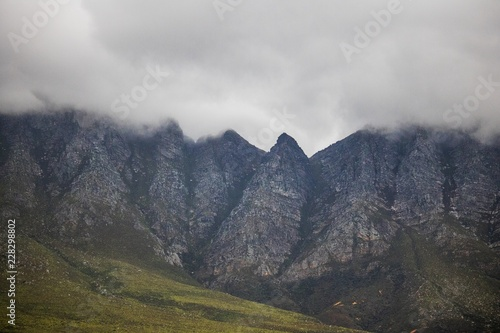 Photo Scenic Clarence Drive mountains, between Gordon's Bay and Rooiels in the Western