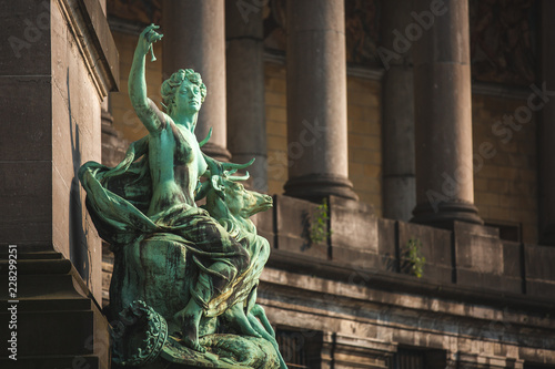 Valokuvatapetti Allegorical Statue Luxembourg by Guillaume De Groot at Cinquantenaire Brussels