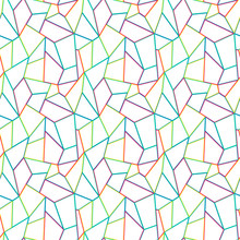 Mosaic Of Colored Quadrangular Shapes. Seamless Pattern