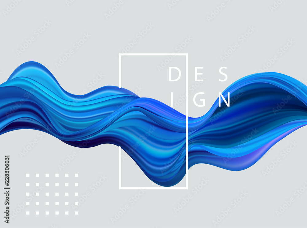 Fototapety, obrazy: Abstract colorful vector background, color flow liquid wave