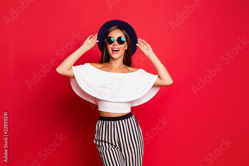 Fotografia  Portrait of cool shine elegant charming adorable straight-haired