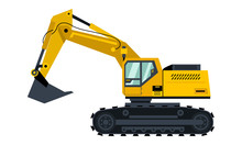 Vector Yellow Excavator