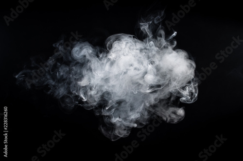 Wall Murals Smoke Abstract smoke on a dark background