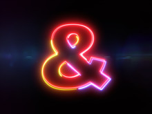 Ampersand Sign - Colorful Glow...