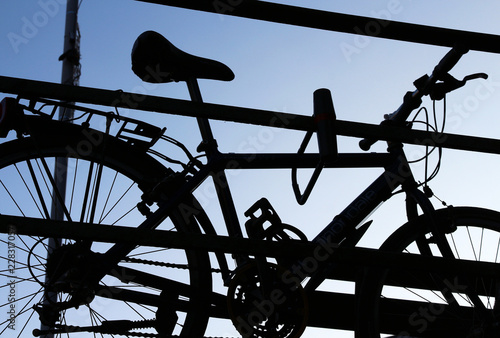 Photo bicycle silhouette