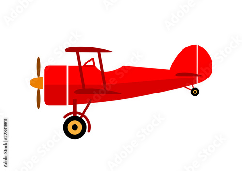 Aircraft vector icon on white background Wallpaper Mural