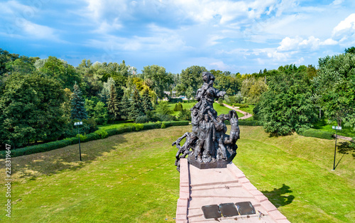 Fotomural Monument to the victims of Nazism in Babi Yar. Kiev, Ukraine