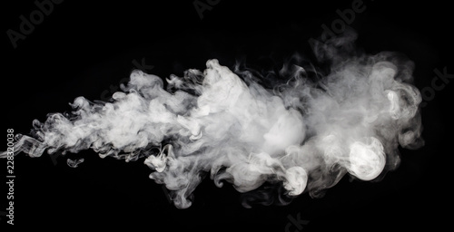 Poster Fumee Abstract smoke on a dark background