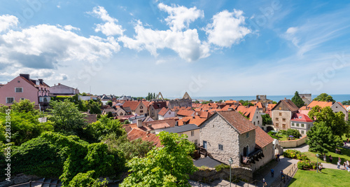 Fotografía view of old town of gotland sweden