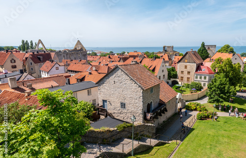 Cuadros en Lienzo view of old town of gotland
