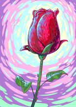 Flower Rose Modern Vector Gogh...