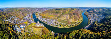 Aerial Panorama Of Cochem With...