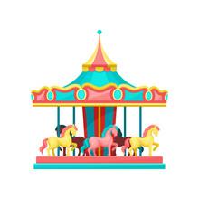 Carousel With Horses, Amusemen...
