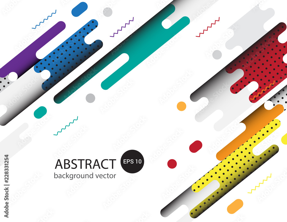 Fototapety, obrazy: Covers with flat geometric pattern Background.Vector illustration.