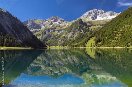Keuken foto achterwand Bergen Bergwelt beim Vilsalpsee