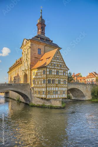 Historic city hall of Bamberg, Bavaria, Germany