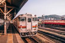 JR Takayama Line Local Train - Classic Vintage Train At Japan Train Station