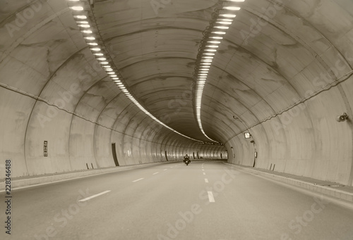 Foto op Canvas Tunnel Highway Road Tunnel