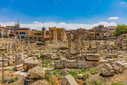 Keuken foto achterwand Historisch geb. romans ruins of Baalbek in Beeka valley Lebanon Middle east