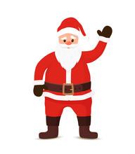 Vector Cartoon Santa Claus Wel...