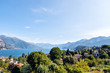 Lake Como with mountains from town view