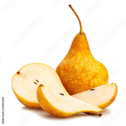 yellow bosc pears