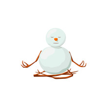 Snowman. Precious Frosty, Gracious , Enlightened, Friendly, Squint, , Yoga