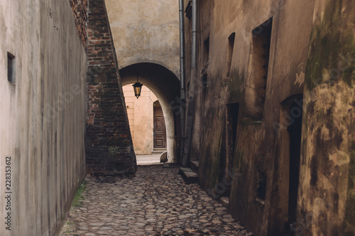 Street view in old center of Lublin, Poland Canvas Print