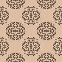 Snowflakes. Seamless Pattern. ...