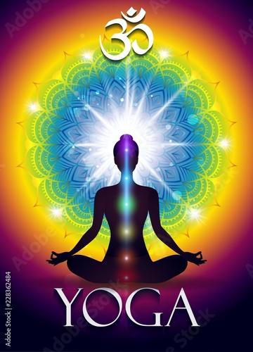 Om Yoga Fototapeta