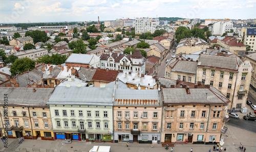 Tuinposter Oost Europa Aerial view of Lviv, Ukraine