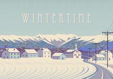 Winter Rural Landscape. Handma...