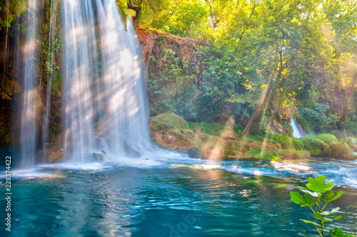 Photo sur Aluminium Bleu vert Famous Kursunlu Waterfalls in Antalya