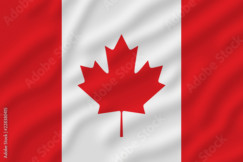 Spoed Foto op Canvas Canada Red and white Canadian flag with a maple leaf in the middle