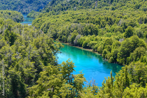 Los Alerces National park in Patagonia, Argentina Canvas Print