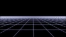 80s Retro Futurism Wireframe Background 3d Illustration Render 2