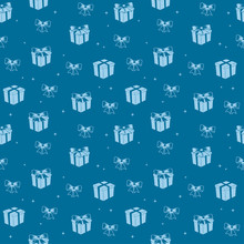 Blue Seamless Pattern With Lig...