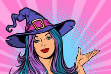 Happy Halloween Witch Beautiful Woman