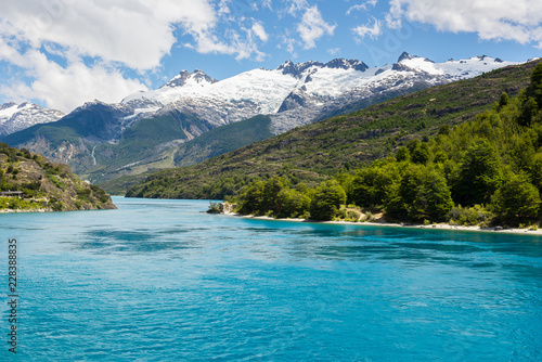 Tuinposter Meer / Vijver Lake General Carrera, Chilean Patagonia