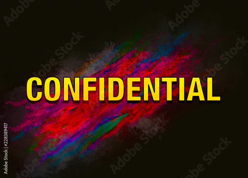 Fotografía  Confidential colorful paint abstract background