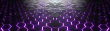 Abstract Hexagonal Geometric U...