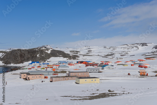 Crédence de cuisine en verre imprimé Antarctique Bellingshausen Russian Antarctic research station on King George island