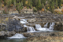 Kootenai Falls In Montana.
