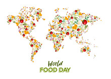 Food Day Greeting Card Of Vege...