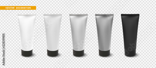 Fotografie, Obraz  Cream or lotion tube, isolated Mock Up template