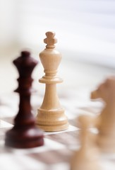 Chess King on a Chess Board