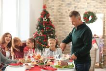 Happy Family Having Christmas ...