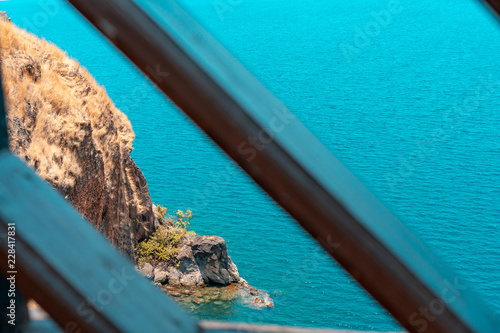 cliff landscape on the lake Tanganyika