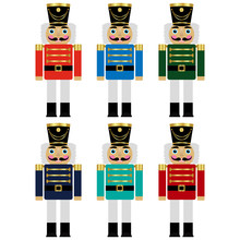 Vector Set Of A Colorful Nutcrackers
